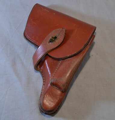 Wws Bulgarian Army Officer's Leather Holster Of Walther Pp Or Mauser Pistol