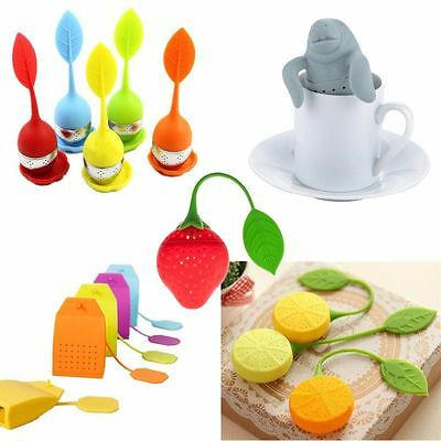 Cool Man Tea Infuser - Mr Silicone Loose Leaf Strainer Herbal Spice Filter ft