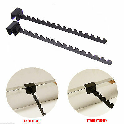 Black Angled/Straight Notch Arm Bracket Hook For Market Stall Retail Display