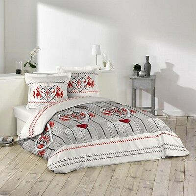 "Housse de couette + 2 taies 220x240cm ""SWEET DREAM"" 100% Coton 57 Fils"