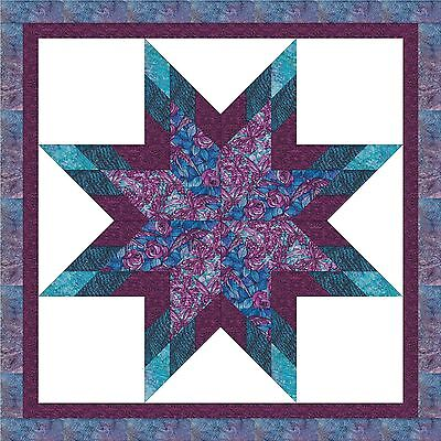 STAINED GLASS BUTTERFLIES & FLORAL STAR - Not Quilted