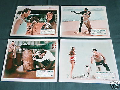 Agent For H.a.r.m - Mark Richman - Wendall Corey - Set Of 8 Lobby Cards- 8X10