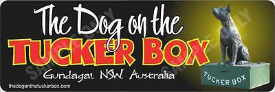 The Dog on The Tuckerbox Bumper Sticker
