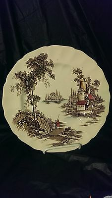 """Johnson Brothers The Old Mill 10"""" Dinner Plate in Excellent Condition"""