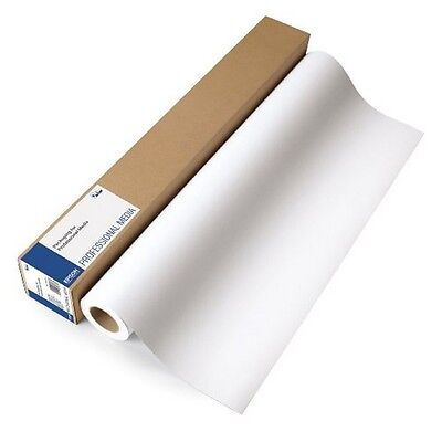 """Epson Enhanced Adhesive Synthetic Matte Paper- 135 gsm- 24"""" x 100' Roll- White"""