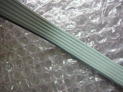100'ft Gray Grey 6 Conductor Flat Ribbon Wire Cable Reel Roll Awg 26 300V