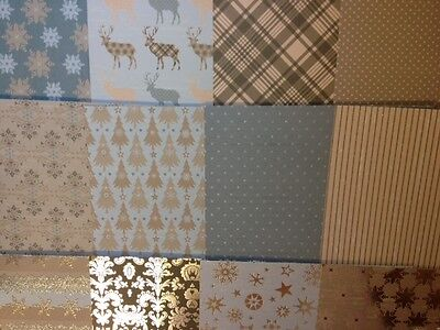 12 SHEET TASTE 6 x 6 DOVECRAFT MAGIC & SPARKLE CHRISTMAS CARD MAKING CRAFT PAPER