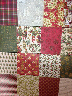 16 SHEET TASTER 6 x 6 FIRST EDITION A CHRISTMAS STORY CARD MAKING BACKING PAPER