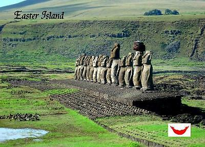 Easter Island Ahu Tongariki Mohais UNESCO New Postcard