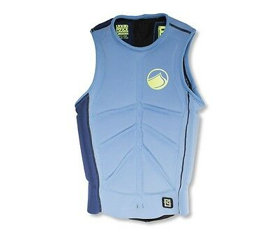 2016 Liquid Force Cardigan Comp Wakeboard Impact Buoyancy Vest S | M Blue 48876