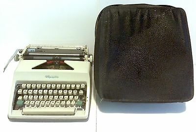 Vintage Olympia Typewriter SM8 1960's With Case Made In Western Germany