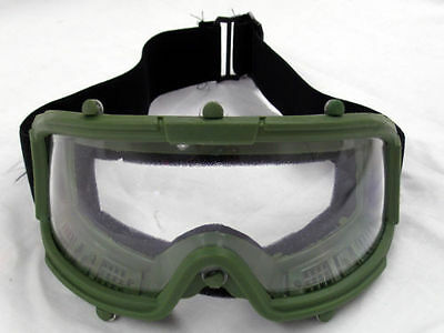 Airsoft Paintball Protective Tactical Safety Goggles Glasses Mask Green 2605M