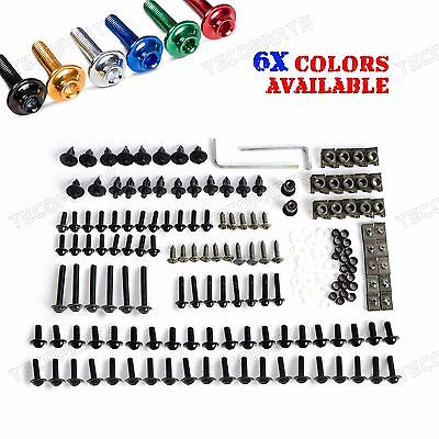 Sportbikes Motorcycle Fairing Bolts Kit Fastener Clips Screws 6 Colors Optional