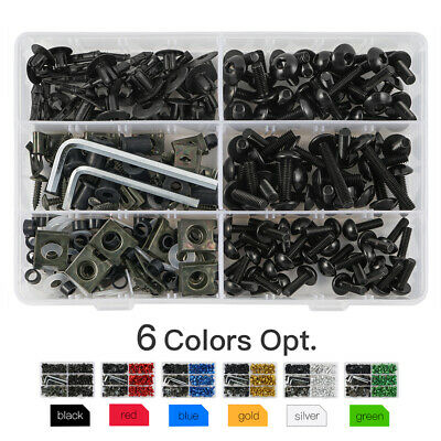 Motorcycle Sportbike Windscreen Fairing Bolts Kit Fastener Clips Screws Aluminum