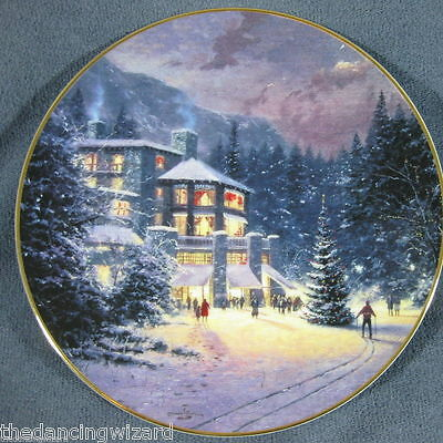 Home For The Holidays Home Away From Home Thomas Kinkade Collector Plate & COA