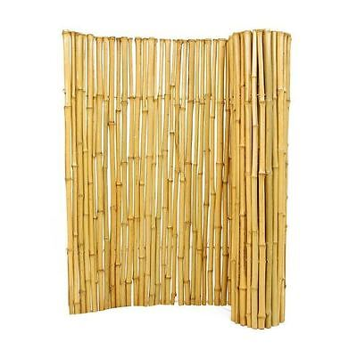 New 3 ft. H x 8 ft. W x 1 in. D Decorative Natural Rolled Bamboo Garden Fence