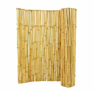 New 3/4 in. D x 3 ft. H x 6 ft. W Decorative Natural Split Bamboo Garden Fence
