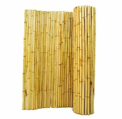 New 3/4 in. D x 6 ft. H x 6 ft. W Garden Decorative Natural Split Bamboo Fence