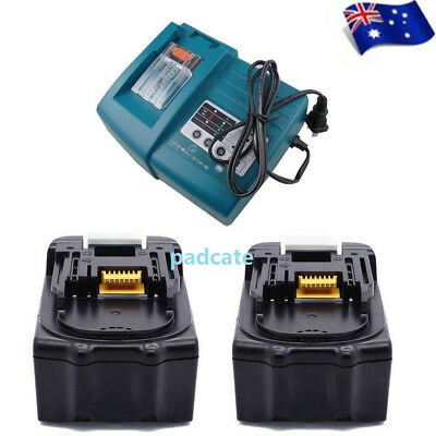 Replace Makita 18V Cordless Bl1840 Bl1830 3Amp Batteries X 2 & Dc18Rc Charger