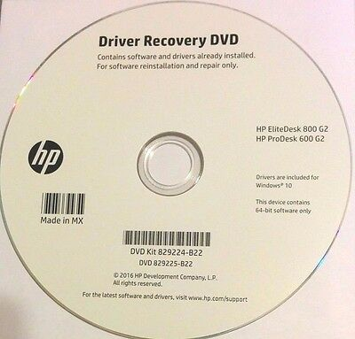 HP DRIVER RECOVERY DVD ProDesk 600 G2 EliteDesk 800 G2 Windows 10 x64  829224-B22