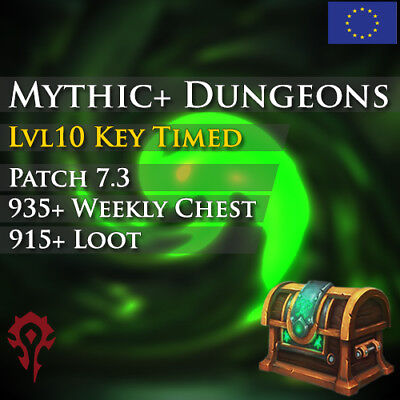 WoW Boost Horde ✯ Mythic+10 Timed Dungeons Run Weekly Chest ✯ All EU Side ✯