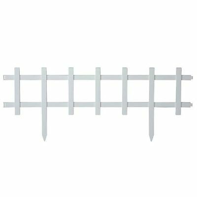 New 13 in. Resin Cape Cod Style Decorative Yard Lawn Garden Border Fence 18-Pack