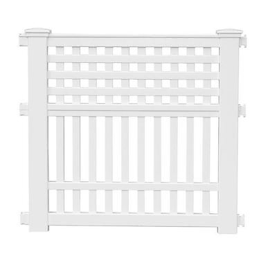 New Grand View 35.75 in. Durable White Resin Decorative Garden Yard Border Fence