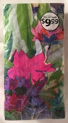 Paper Dinner Party Napkins 30 Count Painted Floral Design Monet Style Elegant