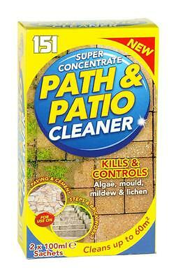 ** 151 SUPER CONCENTRATE PATH & PATIO CLEANER 2 X 100ml SACHETS NEW ** GARDEN