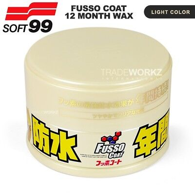 SOFT99 FUSSO Coat 12 Months PTFE Anti-Corrosion Waterproof Light Color Car Wax