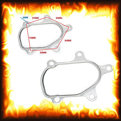 T2 T25 GT25 T28 GT28 GT28R Turbo Outlet Elbow Downpipe Stainless Gasket 5 bolt