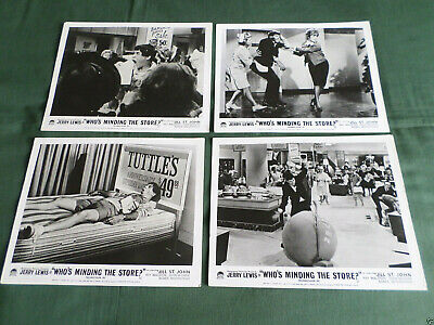 Whos Minding The Store - Jerry Lewis - Jill St John - Set Of 8 Lobby Cards- 8X10