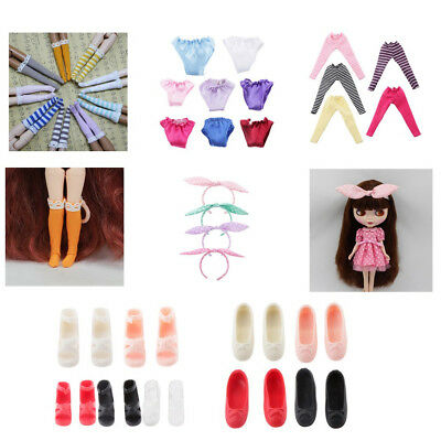 1/6th Dolls Costome Leggings Stockings Shoes Headband for BJD SD DOD Blythe Doll