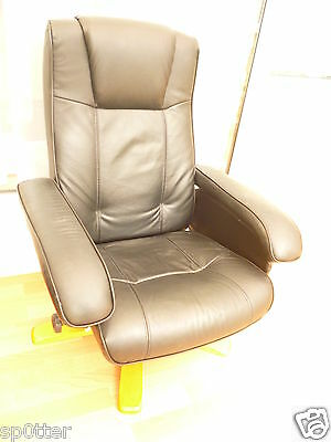 black faux leather recline tilt recliner swivel reclining arm chair