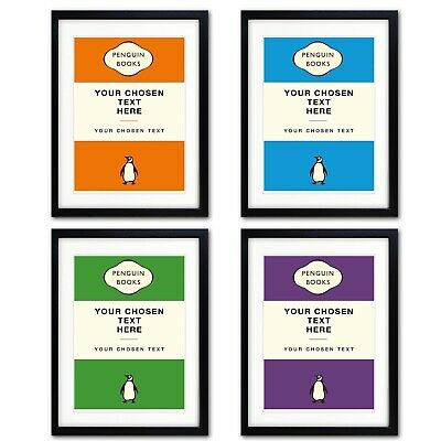 Personalised Vintage Penguin reproduction Original Book Covers Poster Print