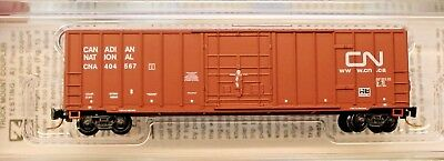 Z Scale - MICRO-TRAINS LINE 511 00 201 CANADIAN NATIONAL 50' Rib Side Box Car