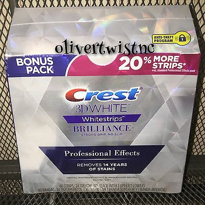 New Crest 3D White BRILLIANCE PROFESSIONAL EFFECTS Whitestrips 24 Treatment 1/18