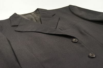Savile Row Bespoke Dege & Sons Dark Charcoal Gray Suit Coat EU 56 L / USA 46 L