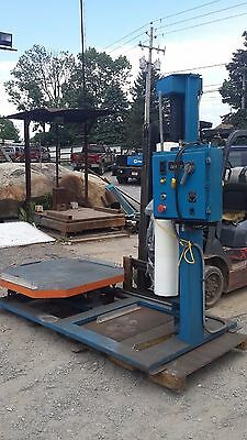 Used Lantech SV-65L Lan-Wrapper Pallet Stretch Wrapper 110V