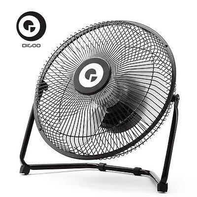 "Digoo 10"" Portable Fan Rotatable Vent Metal Electrical USB Rechargeable Power"