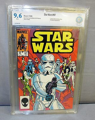 STAR WARS #97 (White Pages) CBCS 9.6 NM+ Marvel Comics 1985 cgc