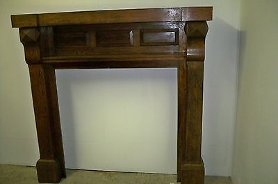 Antique Albemarle NC Mission/ArtsCrafts Oak Mantel Original Sticker/iron insert