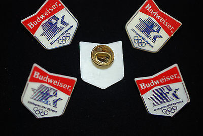 """1984 Los Angles Olympics """"Budweiser"""" Collectable  Lapel - Hat Pins """"Lot of five"""""""