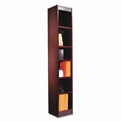 Alera Bookcase, Wood Veneer, 6-Shelf, 12w x 12d x 72h, Mahogany (ALEBCS67212MY)