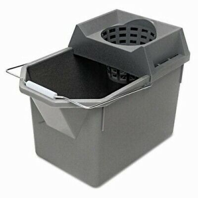 Rubbermaid 6194 Pail & Mop Strainer Combination, Gray (RCP 6194 STL)