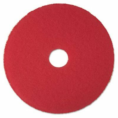 "3M Red 17"" Floor Buffer Pad 5100, 5 Pads (MCO 08392)"