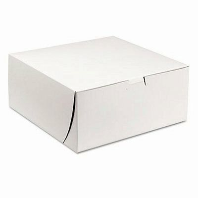 Sct Tuck-Top Bakery Boxes, 9w x 9d x 4h, White, 200/Carton (SCH0961)