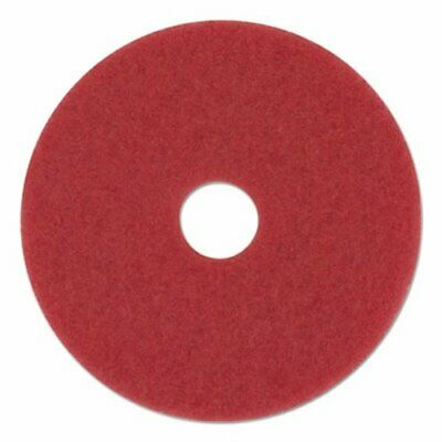 "Boardwalk Standard 12"" Diameter Buffing Floor Pads, Red, 5 Pads (BWK4012RED)"