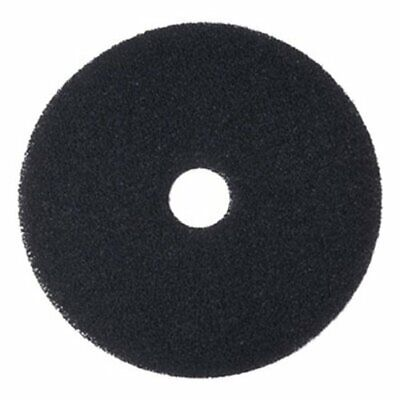"Boardwalk Standard 20"" Black Stripping Floor Pads, 5 Pads (BWK4020BLA)"