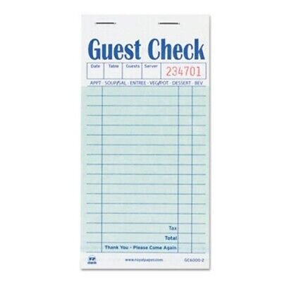 Guest Check Books, Carbon Duplicate, 50 Books (RPP GC6000-2)